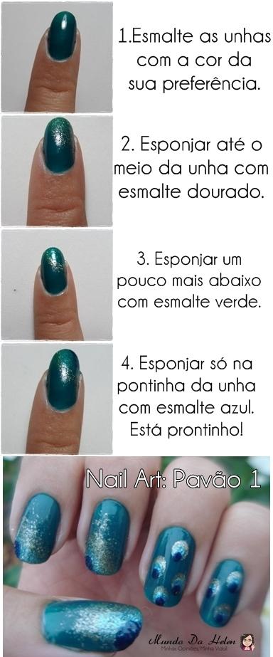 TUTORIAL NAIL PAVÃO 1