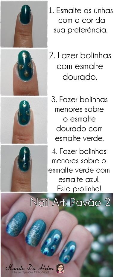 TUTORIAL NAIL PAVÃO 2