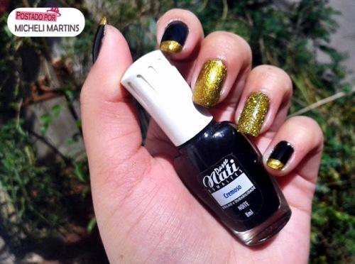 Mi - Noite (Nati) + glitter dourado